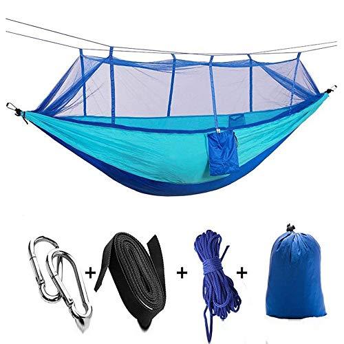 Hamac De Camping Double Simple avec Sangles De Moustiquaire Portable en Nylon Léger pour Les Voyages en Randonnée