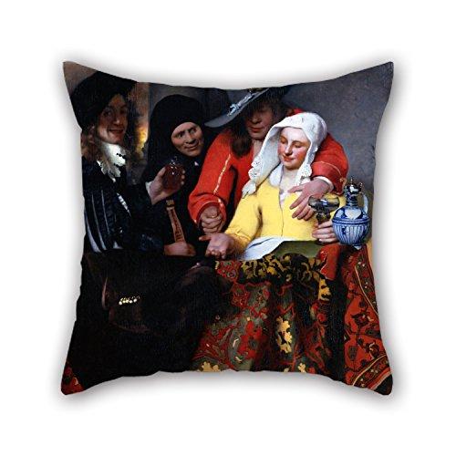 Olieverfschilderij Johannes Vermeer - De Procuress Kussen Covers 20 X 20 Inches / 50 By 50 Cm Voor Eetkamerbank Tieners Meisjes Bf Shop Verjaardag Met Twin Sides