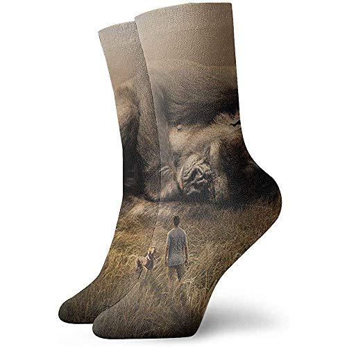 Unisexe Crew Sock Art Beasts Mori Ridge Dog Gorilla Big Guy Big Guy Sport Athletic Socks Épais Nouveauté Crazy Socks
