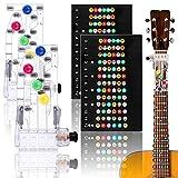 4 pezzi strumento per l'apprendimento della chitarra aiuto per chitarra e adesivi per tastiera per chitarra adesivi note chitarra per principianti acustica e chitarra occidentale