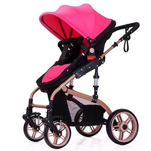 Poussette parapluie grande taille ultra-légère, siège inclinable, harnais de sécurité en 5 points, auvent, bac de rangement