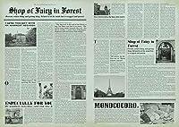 モノココロ (A2・10枚入) ラッピングを楽しむ 包装紙 モノトーンの英字新聞モチーフ