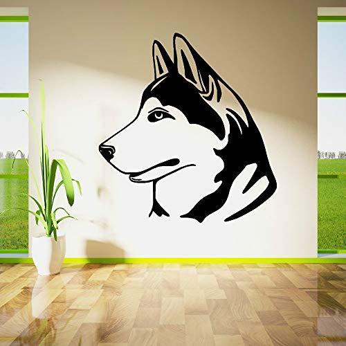 Tianpengyuanshuai Wandbild Aufkleber Vinyl Home Dekoration Wandaufkleber Hund Aufkleber abnehmbare Haustier Wandbild 45X42cm