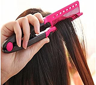 Folding Hair V Comb Hairdressing Styling Straightener Salon Tool by GokuStore