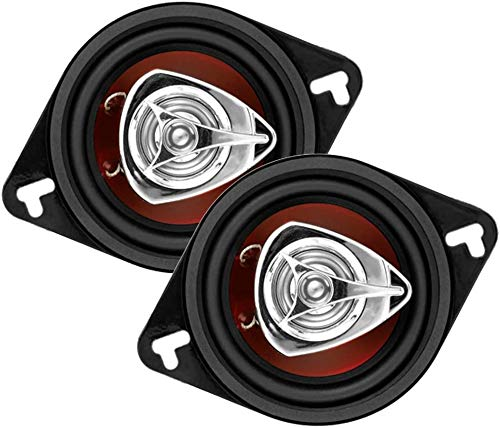 Car Speakers - 140 Watts of Power Per Pair and 70 Watts Each, 3.5 Inch, Full Range, 2 Way, Sold in Pairs, Easy Mounting