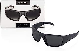 Inventiv Sport Wireless Bluetooth Audio Sunglasses, Open Ear Headphones Music & Hands-Free Calling, for Men & Women, Polarized Glasses Lenses (Black Frame/Grey Tint)