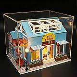 XZJJZ DIY Miniatur-Puppenhaus aus Holz Möbel-Set, handgemachte Mini Modern Modell Plus mit Staubschutz, Kreative Puppenhaus Spielzeug for Geschenk (Size : with dust Cover)