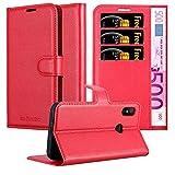 Cadorabo Hülle für Xiaomi Mi A2 LITE/RedMi 6 PRO in Karmin ROT - Handyhülle mit Magnetverschluss, Standfunktion & Kartenfach - Hülle Cover Schutzhülle Etui Tasche Book Klapp Style