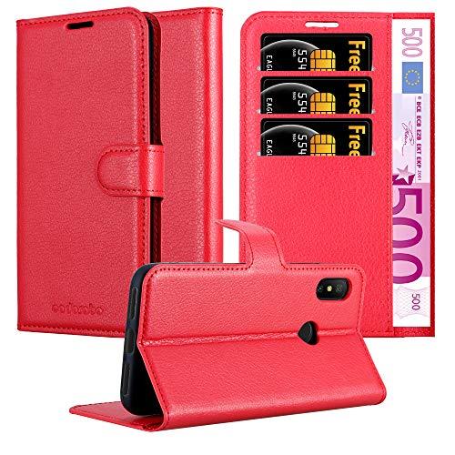 Cadorabo Funda Libro para Xiaomi Mi A2 Lite/RedMi 6 Pro en Rojo CARMÍN - Cubierta Proteccíon con Cierre Magnético, Tarjetero y Función de Suporte - Etui Case Cover Carcasa