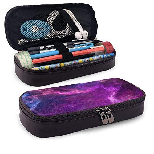 Purple Sky The Purple Estuche para lápices de cuero con portalápices, papelería de gran capacidad, bolsa de cosméticos, auriculares Bluetoothresi
