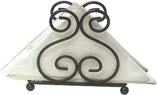 Simple Design Scroll Collection Swirl Bronze Napkin Holder Provides Decorative Storage Space For Napkins (Bronze)
