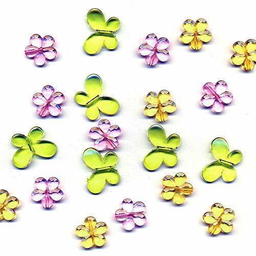 amscan - 500213 - Confettis en Acrylique Papillons Modèle aléatoire 24 g