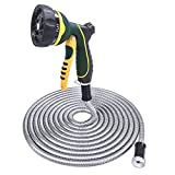 TheFitLife Stainless Steel Metal Garden Hose 304 Stainless Steel Water Hose with Solid...