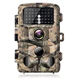 "【2021 Upgraded】 Campark Trail Camera-20MP 1080P Waterproof Game Hunting Cam with 3 Infrared Sensors for Wildlife Monitoring with 120°Detecting Range Motion Activated Night Vision 2.4"" LCD"