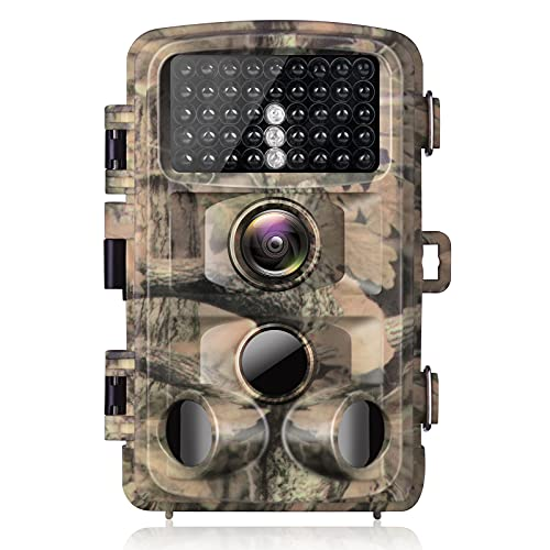 Campark Trail Camera 1080p Waterproof Game Hunting Cam with 3 Infrared Sensors Motion Activated Night Vision for Wildlife Monitoring