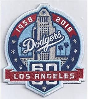 Baseball DODGERS 60TH ANNIVERSARY PATCH JERSEY PATCH WORLD SERIES CHAMPIONSPRE-ORDER ITEM - SHIPPING BEGINS JUNE 3RD