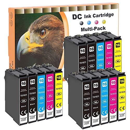 Cartucce per stampanti D&C 15x compatibili con Epson 16XL T1631 T1632 T1633 T1634 per Epson Workforce WF-2650 DWF WF-2660 DWF WF-2700 WF-2750 DWF WF-2760 DWF WF-2010 W WF-2500 2510 WF 2520 NF 2530 WF