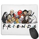 Friends of Horror Funny Halloween Scary Movies Alfombrilla de ratón Antideslizante para Juegos, computadora de Escritorio