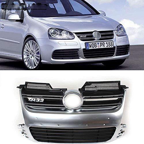 Auto Front Wabengitter Kühlergrille, für Golf 5 MK5 R32 2005 2006 2007 2008 2009, Stoßstangengrill Luftansauggitter Modifiziertes Zubehör Grille, ABS