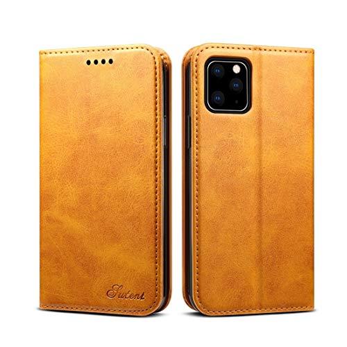 XIXI Telefoon Suteni Kalf Textuur Horizontale Flip Lederen Hoesje met Houder & Card Slots & Portemonnee voor iPhone 11 Pro(Zwart) Glad Voel en Kwaliteit Garantie, kaki
