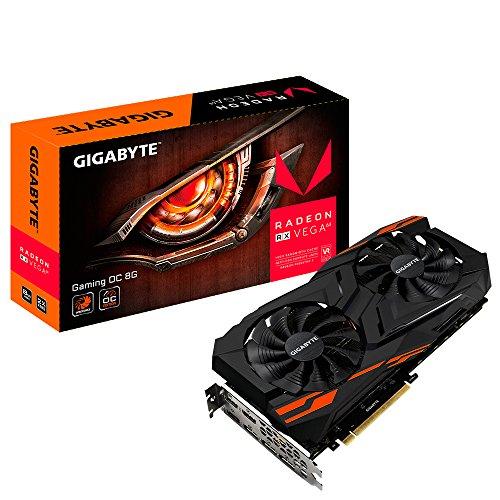Gigabyte GV-RXVEGA64GAMING OC-8GD Scheda Grafica Radeon RX Vega 64 da 8 GB, 1276MHz, 1560MHz Boost, 945MHz HBM2, DP/HDMI, PCI-E 3.0 x 16, Nero
