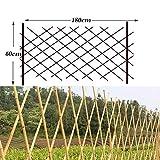 WY Gartenzaun Zaunschutz Bambuszaun Pflanze Klettergerüst Garten Dekoration Pflanze Schutzschiene 4 Größen, Bambus, 60X180CM