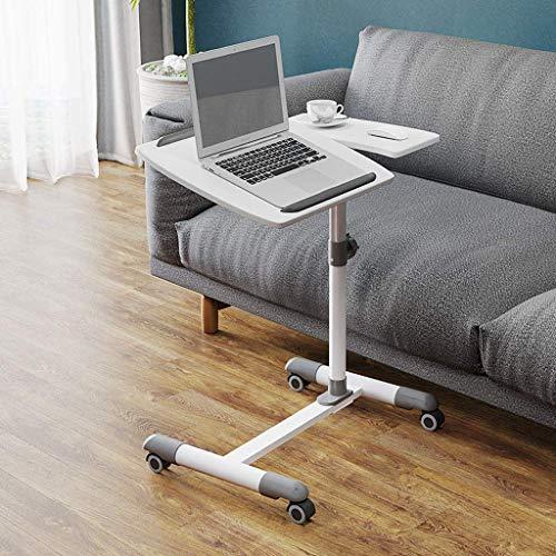JD Bug Mobiele bureau heftafel Draagbare tafel Salontafel met wielen, Mobiele bureau Studeertafel Studio tafel Sofa nachtkastje Industrieel ontwerp met thuiskantoor-F-62X38X67-98.5CM