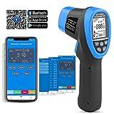 デジタル赤外線温度計-非接触高温計、Bluetooth APP接続可能なIR温度ガンテスター測定-58〜1472°F、HVAC キルンを 調理 するためのデータロガー(ANNMETER AN-985C-APP)[注:人間用ではありません]
