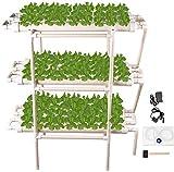 Kacsoo Sistema de Cultivo Hidropónico, Hidropónica Kit de Cultivo hidropónico Sistema 108 Sitios de Siembra en 3 Plantas, Kits de Siembra Hidropónicos de Tubería de PVC para Verduras, Flores, Frutas