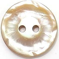 シンプルなカットで輝く茶蝶貝ボタン 釦(10095) CPB-107 18mm