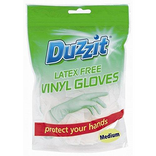 Duzzit 36Medium vinyl Gloves extra Strength/2PKS of 18
