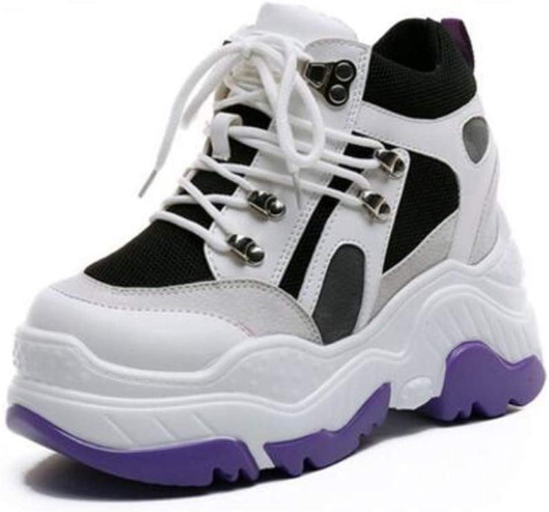 JOYBI Women Casual Wedges Platform Sneakers Non Slip Tenis Comfortable Lace Up Chunky Dad Walking shoes