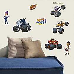 RoomMates RMK3119SCS Blaze & The Monster Machines Peel And Stick Wall Decals,Multicolor