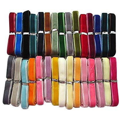 chenkou Samtband, 27Meter, 10mm breit, 30 verschiedene Farben
