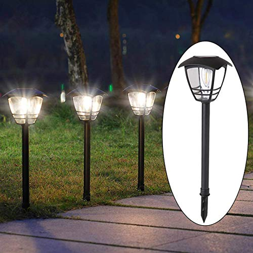 Maggift 4 Pack Vintage Solar Pathway Lights LED Bulbs Solar Powered Garden Walkway Lights for Outdoor Lawn, Patio, Yard, Walkway, Driveway , 15 Lumen