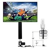 ECO-WORTHY Elektrisch höhenverstellbarer TV Lift Standfuß Flachbildschirme 80 cm Hublänge