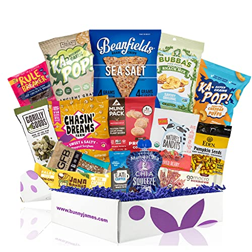 Vegan Gluten Free Dairy Free Healthy Snacks: Variety of Premium Vegan GF Snacks For A Vegan Gift Basket, Vegan Care Package, Or Gluten And Dairy Free Snacks Gift Baskets.