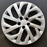 MARROW One New Wheel Cover Hubcap Replacement Fits 2017-2018 Toyota Corolla LE; 16 Inch; 16 Spoke; Silver Color; Plastic