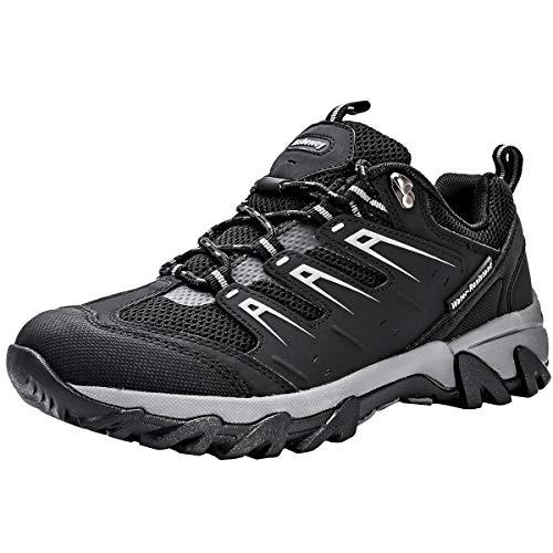 Zapatos de Senderismo Mujeres Calzado Deportivo de Exterior de Hombre Antideslizante Transpirable Zapatillas Casual Calzado de Acampada y Marcha Negro EU 39