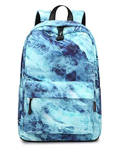 Joymoze Kinder Rucksack für Jungen und Mädchen Leichter Schulrucksack für Jugendliche Retro Blau
