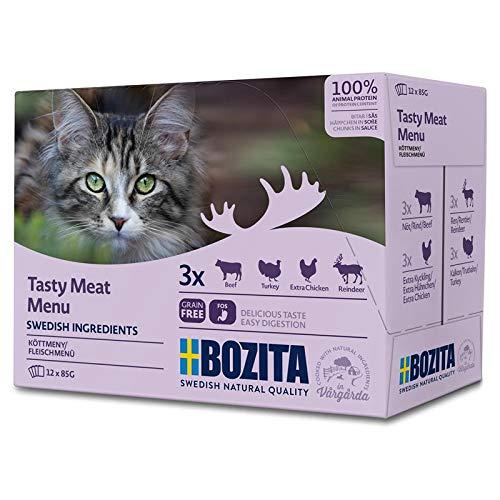 Bozita Multibox Fleisch-Menü | 12 x 85g Katzenfutter nass