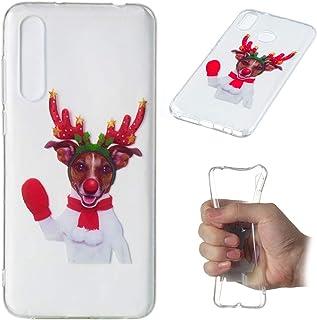 カバー Huawei P20 Lite バックケース, MeetJP スリム 防塵の 耐衝撃性 優れた バックケース - Red Gloves Elk