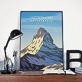 Matterhorn Druck, Matterhorn Poster, Matterhorn Vintage