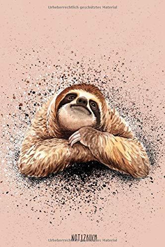 Notizbuch: Faultier Notizbuch A5 Punktraster |  Träumendes Faultier Cover | Notizheft | Tagebuch | Journal | Geschenk Faultier Sloth Fans | 120 Seiten