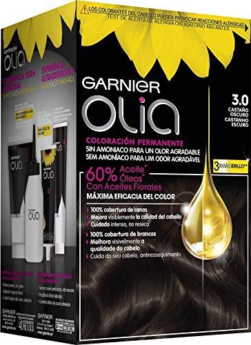 Garnier Olia coloración permanente con aceites florales de origen natural sin amoniaco para un olor agradable - castaño oscuro 3.0