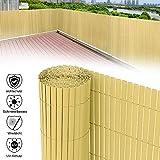 Aufun Sichtschutzmatte PVC 160x1000cm - Sichtschutzzaun Bambus Windschutz fur Garten Balkon und Terrasse (160x1000cm,Bambus)