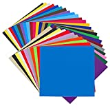 Angel Crafts Adhesive Vinyl Sheets: Permanent Vinyl for Cricut, Silhouette Cameo, Oracal Cutters - 35 Colors,...