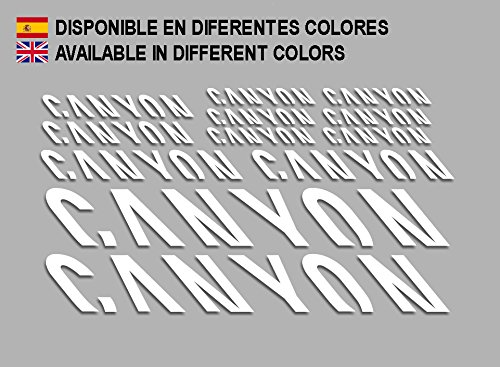 Ecoshirt QZ-L7PE-RE1K Aufkleber Canyon F157 Vinyl Adesivi Decal Aufkleber públicŸŸŸŸber MTB Stickers Bike, weiß