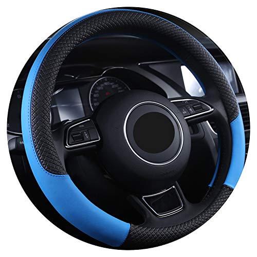 Ablaze Jin Couvre-Volant en Cuir Microfibre pour Volant en été 38 cm, Bleu