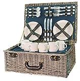 Picknickkorb aus Weidengeflech Panier de Pique-Nique en Osier tressé pour 6 Personnes